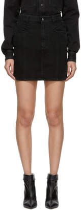 Givenchy Black Denim Miniskirt