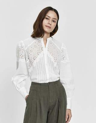 Farrow Shea Eyelet Button-Up Shirt