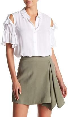 BCBGeneration Ruffle Tie Sleeve Shirt