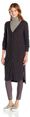 Michael Stars Women's Jasper Poor Boy Long Sleeve Hi Low Cardigan