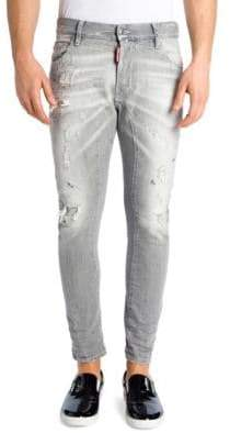 DSQUARED2 Slim-Fit Distressed Biker Jeans