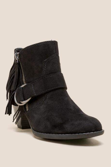 Indigo Rd Juliet Fringe Western Lo Shaft Boot - Black