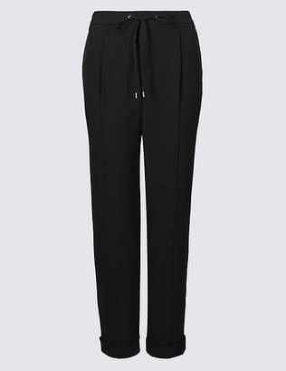 Marks and Spencer Drawstring Pleated Tapered Leg Trousers