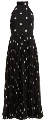 Zimmermann Sunray Polka Dot Chiffon Midi Dress - Womens - Black