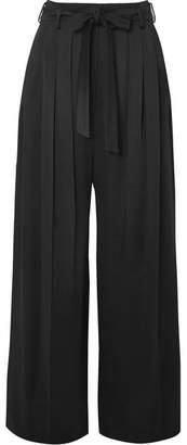 Valentino Hammered-satin Pants - Black