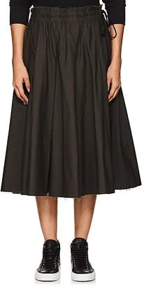 Yohji Yamamoto Regulation Women's Pleated Cotton Canvas Skirt