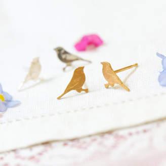 Coleman Amanda Silver Tiny Bird Stud Earrings