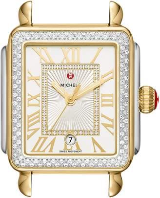 Michele Deco Madison Diamond Dial Watch Case, 33mm x 35mm