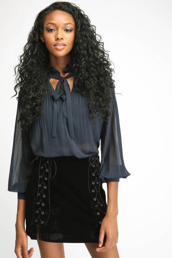 My 8 Favorite Necktie Blouse www.toyastales.blogspot.com #ToyasTales #NecktieBlouse #winterfashion #styleguide