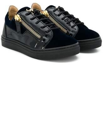 Giuseppe Junior shiny panelled sneakers
