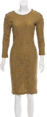 Burberry Midi Lace Dress
