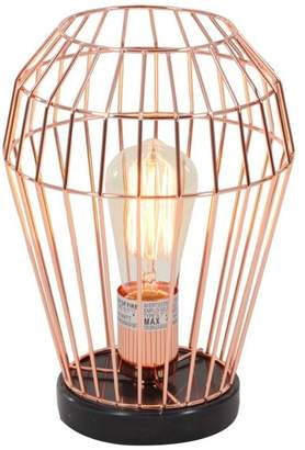 Brimfield & May Contemporary Bud Cage Design Iron and Marble Accent Lamp