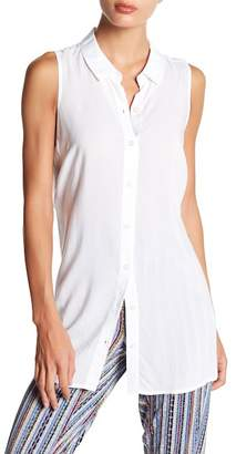 BCBGeneration Tie Back Button Down Tank