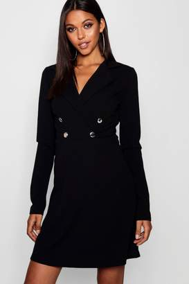boohoo Tall Military Blazer Dress