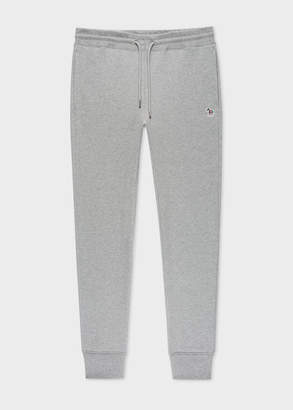 Paul Smith Men's Grey Zebra Logo Cotton Sweatpants