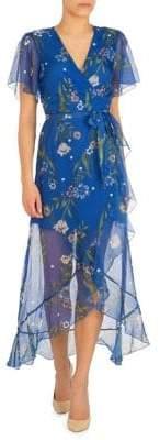 GUESS Junia Floral-Print Wrap Maxi Dress