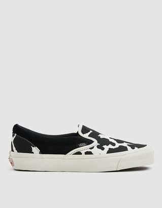 Vans Vault By OG Classic Slip-On LX Sneaker in Cow Black/Cow