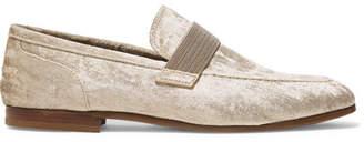 Brunello Cucinelli Embellished Velvet Loafers - Beige