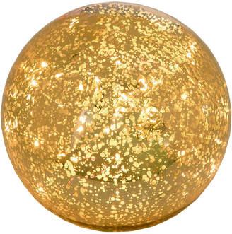 Transpac Glass Small Gold Christmas Mercury Light Up Orb Decor