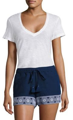 Vineyard Vines Shell Floral Embroidered Shorts $78 thestylecure.com