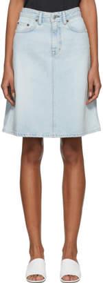 Acne Studios Bla Konst Blue Denim Shadow Skirt