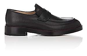 Paul Andrew MEN'S CASTOR GRAINED LEATHER PENNY LOAFERS - BLACK SIZE 10 M