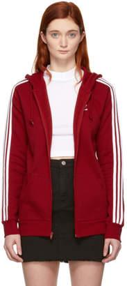 adidas Red 3-Stripes FZ Hoodie