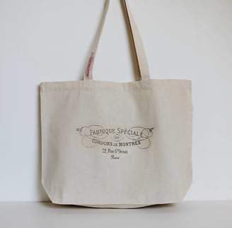 Charlie-Milly Design French Sign Canvas Bag