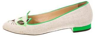 Charlotte Olympia Sunkissed Kitty Flats