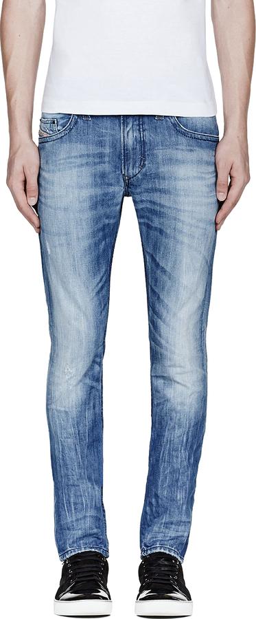 Diesel Light Blue Faded Thavar Jeans