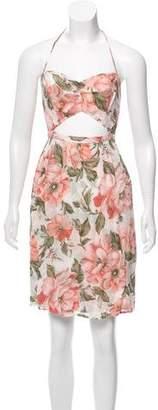 Reformation Floral Halter Dress