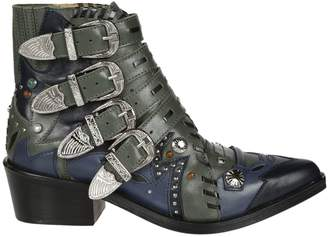 Toga Pulla Buckle Strap Ankle Boots