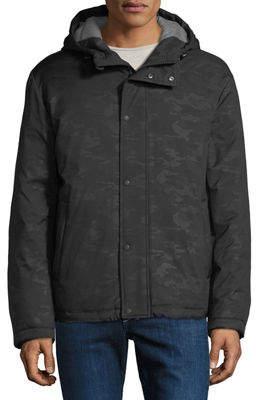 Cole Haan Men's Lightweight Hooded Oxford Bomber Jacket