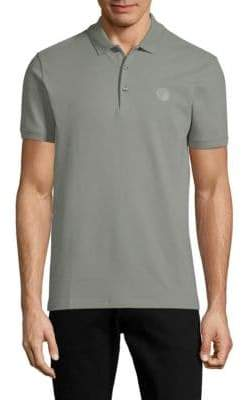 Versace Short-Sleeve Cotton Polo