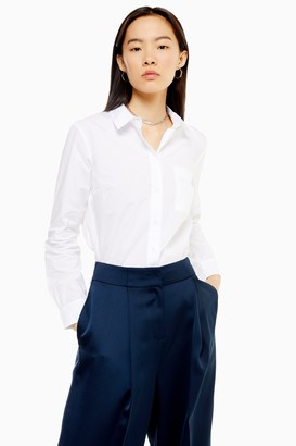 Topshop Plain White Shirt