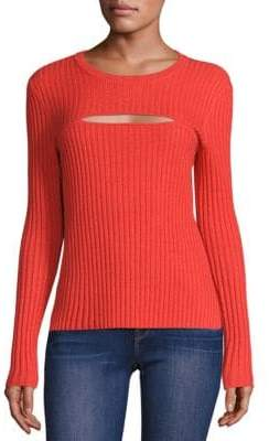 Peserico Rib-Knit Cutout Sweater
