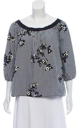 Marc Jacobs Embroidered Gingham Top