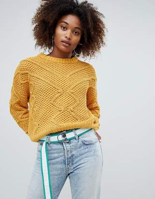 Pull&Bear Pom Pom Detail Sweater