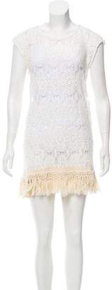 Eberjey Tassel-Accented Crocheted Dress