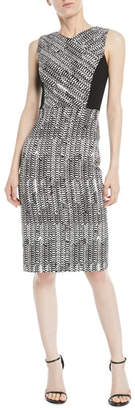 Jason Wu Sleeveless Herringbone-Jacquard Sheath Cocktail Dress