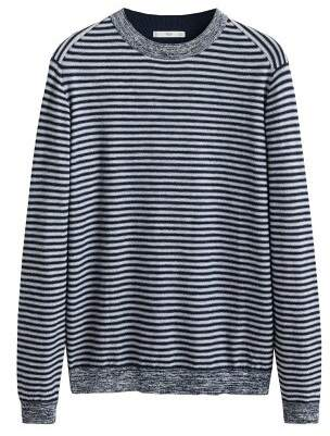 Mango man MANGO MAN Elbow-patch striped cotton sweater