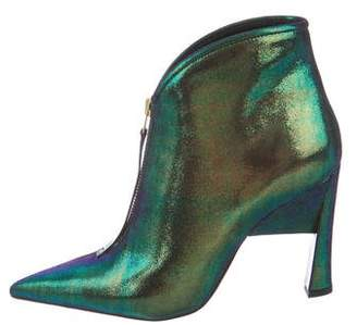 Marni Iridescent Nubuck Ankle Boots w/ Tags