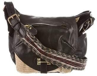 Isabel Marant Straw-Trimmed Crossbody Bag
