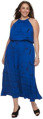 Apt. 9 Plus Size Strappy Blouson Maxi Dress
