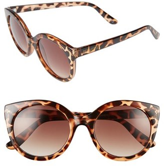 Women's Perverse 'Gimme Mo' 52Mm Round Sunglasses - Tortoise/ Brown $45 thestylecure.com