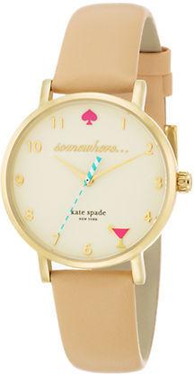 Kate SpadeKate Spade New York Ladies Metro Gold-Plated Watch