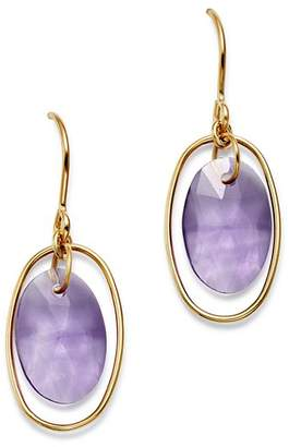 Bloomingdale's Amethyst Oval Drop Earrings in 14K Yellow Gold - 100% Exclusive