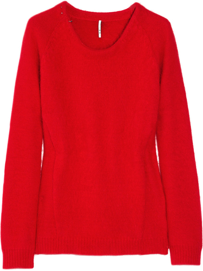 IRO Embellished angora-blend sweater