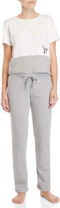 ED Ellen Degeneres Two-Piece Short Sleeve Pajama Set