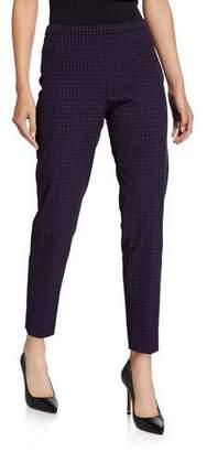 Elie Tahari Marcia Grid Straight-Leg Ankle Pants